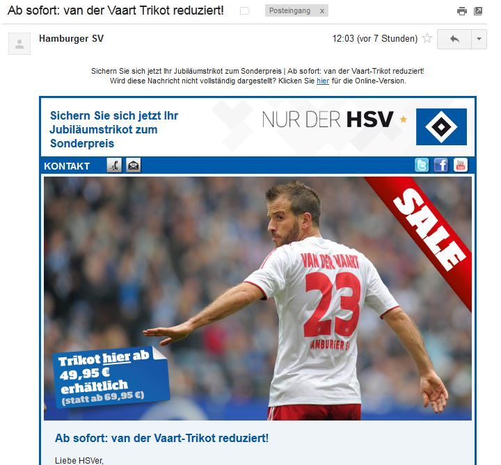 van der Vaart for sale